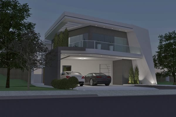 Plano contemporánea con 3 suites